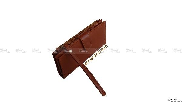 کیف پول و موبایل چرم طبیعی گوساله داری بند مچی-تصویر اصلی