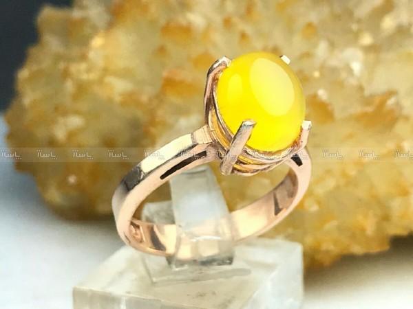 انگشترعقیق زرد شرف شمس-تصویر اصلی