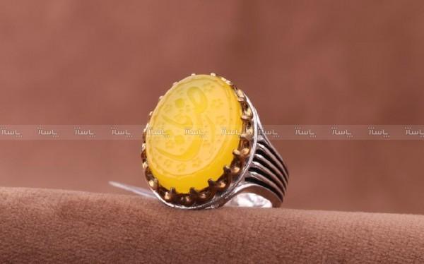 انگشتر عقیق زرد خطی-تصویر اصلی