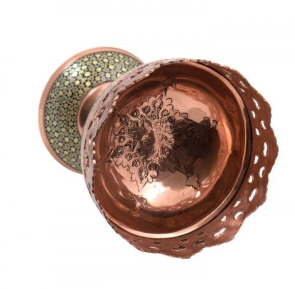 شکلات خوری پایه دار مس خاتم-تصویر اصلی