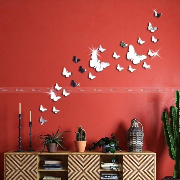 آینه پلکسی گلس اورجینال تزئینی مدل پروانه
