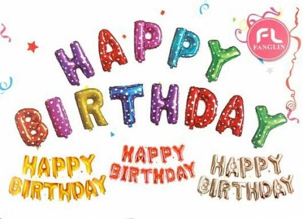 بادکنک فویلی Happy Birthday-تصویر اصلی