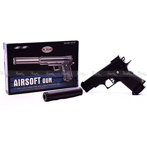 کلت فلزی ساچمه ای AIRSOFT GUN – مدل +V5-تصویر اصلی