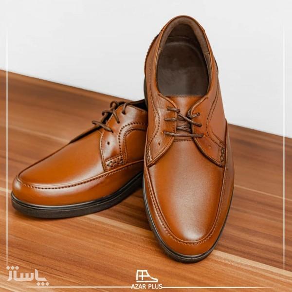 کفش مجلسی و رسمی تمام چرم گاوی مدل t12 مردانه +ارسال رایگان-تصویر اصلی