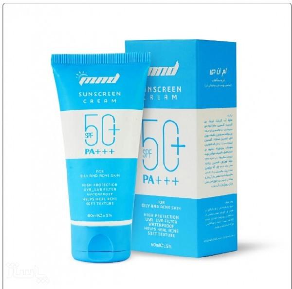 ضد آفتاب بیرنگ مناسب پوست چرب mnd با spf50(60میل)-تصویر اصلی