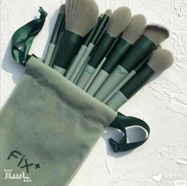 ست براش 13 تکه حرفه ای fix+ (رنگ سبز)-تصویر اصلی