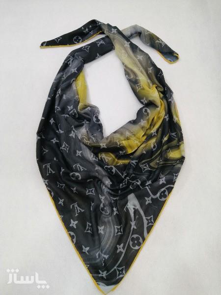 روسری نخ ابریشم دست دوز زنانه طرح مارک 6-تصویر اصلی