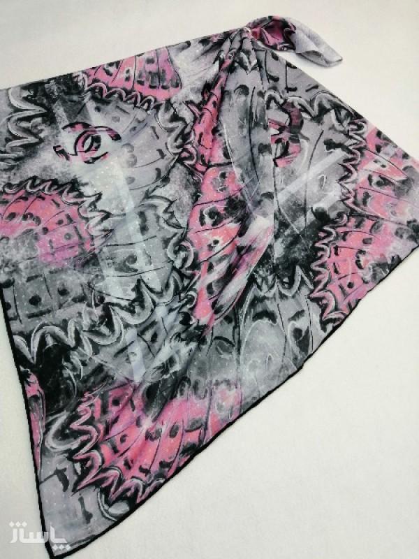 روسری نخ ابریشم دست دوز زنانه طرح پروانه 2-تصویر اصلی