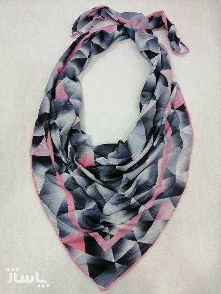 روسری نخ ابریشم دست دوز زنانه طرح هندسی2-تصویر اصلی