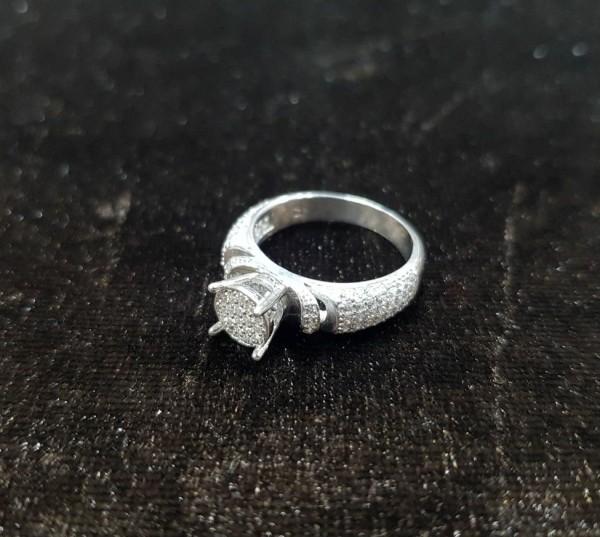 انگشتر نقره میکرو,طرح جواهر-تصویر اصلی