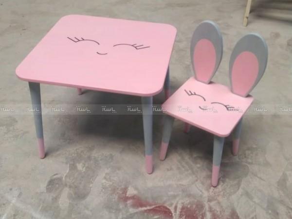 میز و صندلی خرگوشی دورنگ-تصویر اصلی