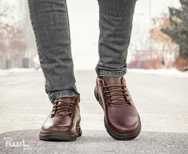 کفش اسپورت تمام چرم گاوی مدل آرکا-تصویر اصلی