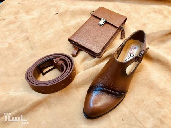 ست کیف و کفش چرم اصل گاوی زنانه-تصویر اصلی