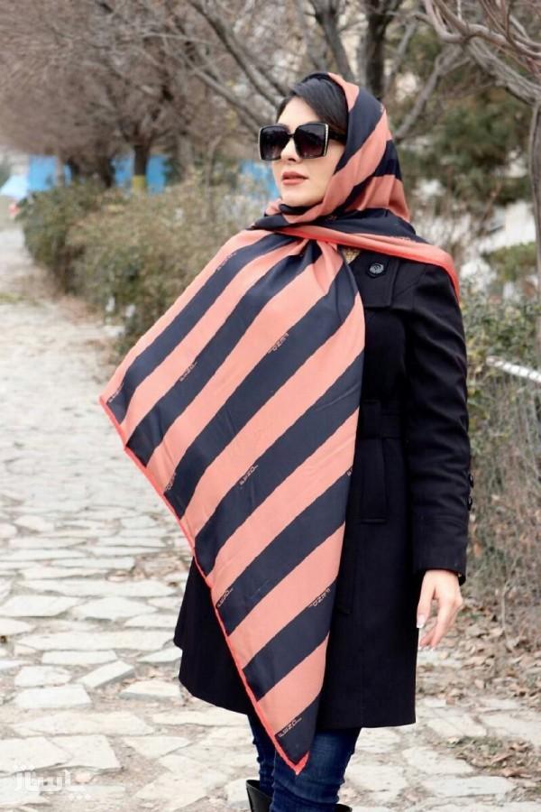 روسری نخ براق مجلسی-تصویر اصلی