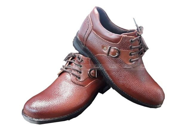 کفش چرم فلوتر عسلی تیره-تصویر اصلی