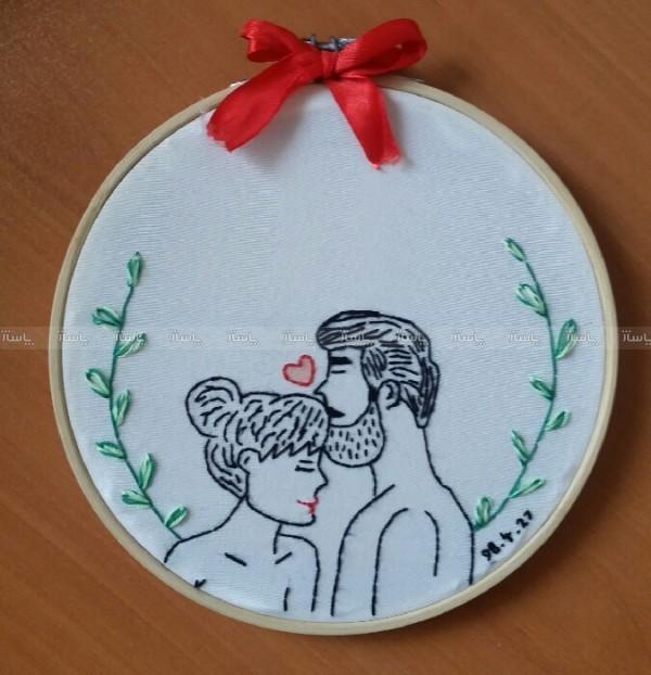 گلدوزی طرح عاشقانه 2-تصویر اصلی