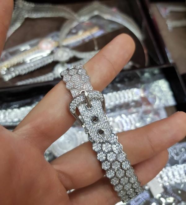 دستبند شیک ولوکس نقره-تصویر اصلی