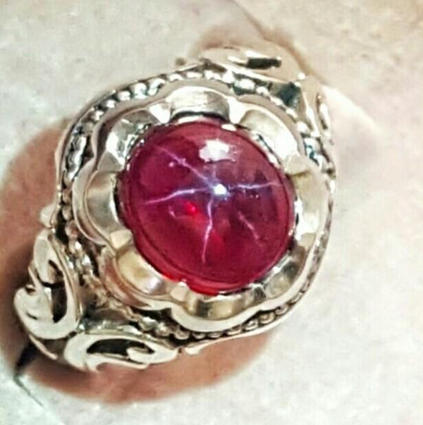 انگشتر نقره یاقوت استار معدن-تصویر اصلی