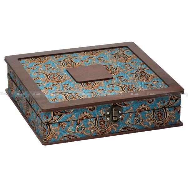 جعبه آجیل و خشکبار جعبه پذیرایی جعبه چوبی مدل ترمه  کد LB014-تصویر اصلی