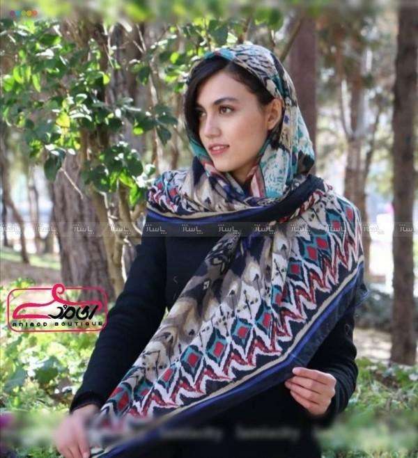 روسری نخی آبرنگی-تصویر اصلی