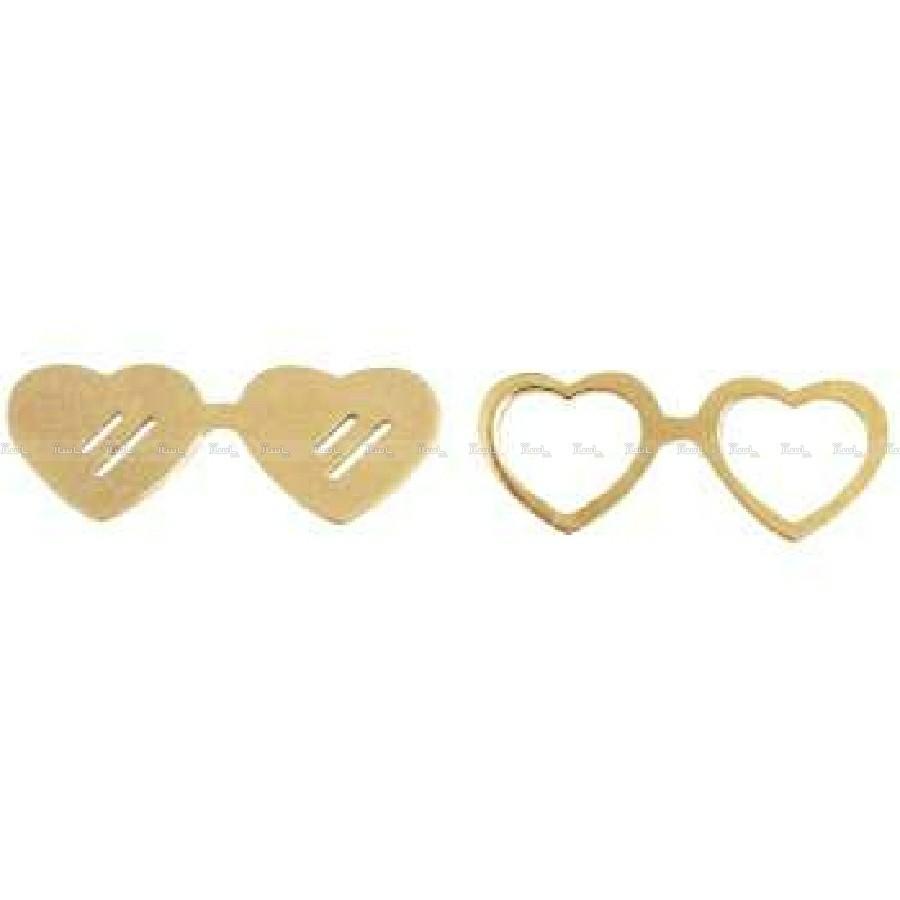 گوشواره عینک ( ۷۵۰ سوت ) طلا ۱۸ عیار-تصویر اصلی