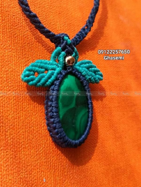 گردنبند دستبافت با سنگ مالاکیت-تصویر اصلی