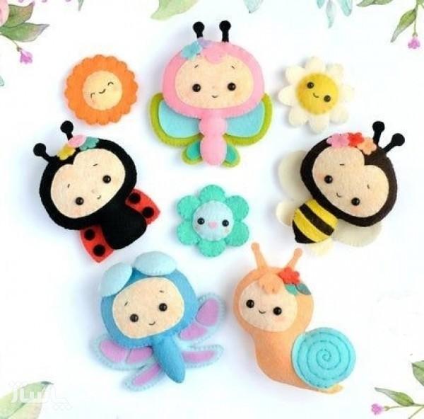 مجموعه عروسک حشرات نمدی-تصویر اصلی