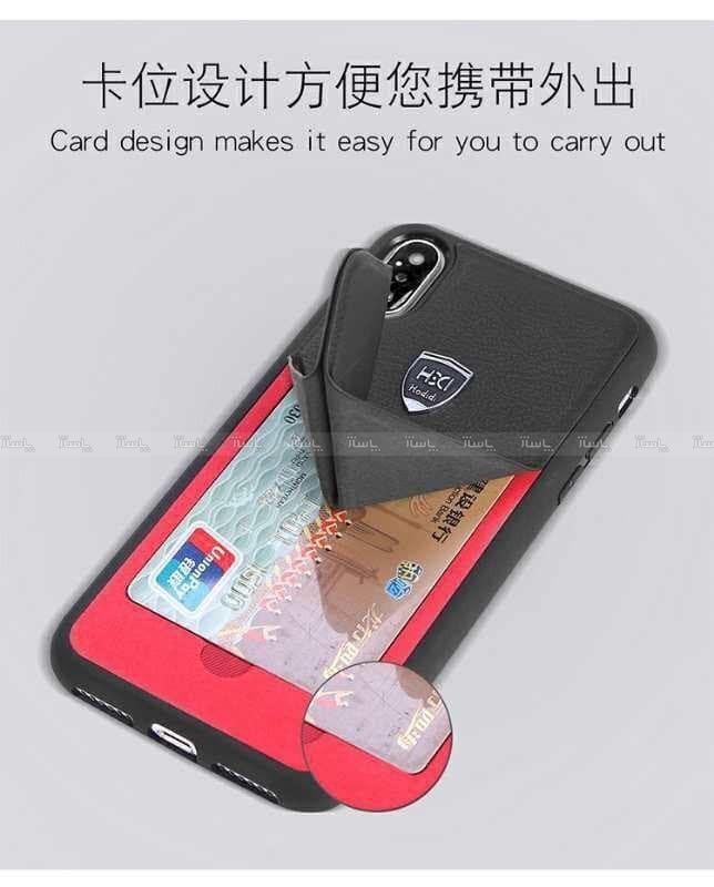 گارد چرمی استند دار Transformers Card Holder iphone X/XS-تصویر اصلی