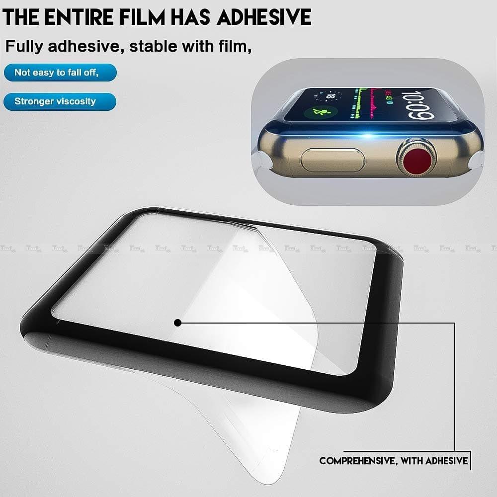 محافظ صفحه نمایش شیشه ای اپل واچ UNIPHA 4D Glass Apple Watch 44mm-تصویر اصلی