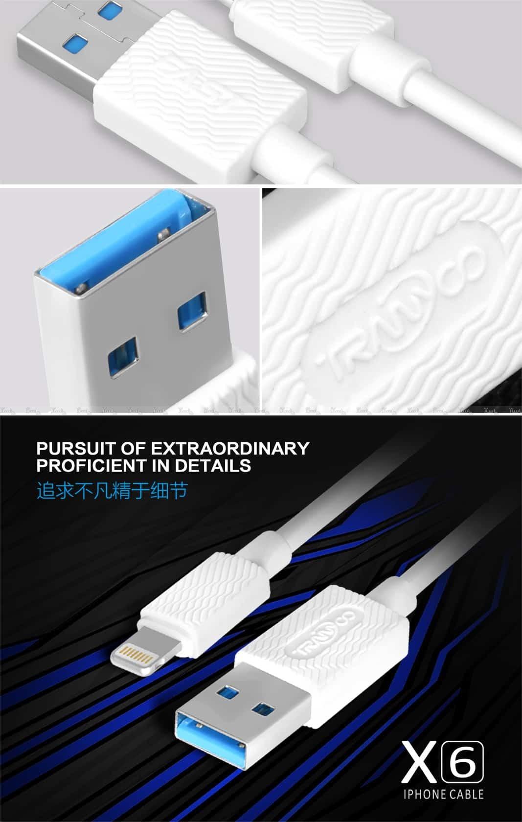 کابل شارژر ایفون TRANYOO Cable LIGHTNING X6-تصویر اصلی