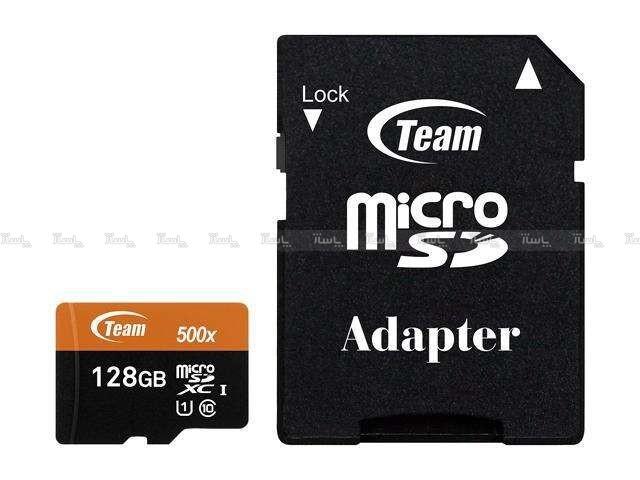 مموری کارت 128GB microSDXC TEAMGROUP کلاس 10 استاندارد UHS-I U1 سرعت 500X-تصویر اصلی