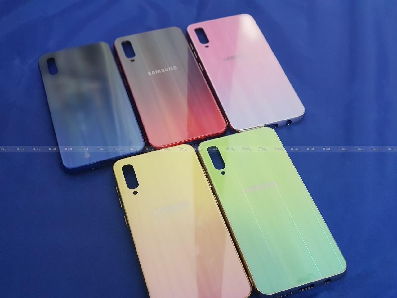 کاور پشت گلس رنگین کمانی Glass case samsung A70-تصویر اصلی