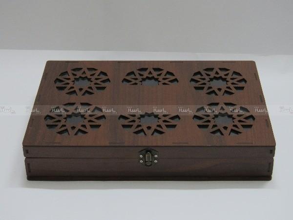 جعبه آجیل و خشکبار جعبه پذیرایی جعبه چوبی مدل گل کد LB016-تصویر اصلی