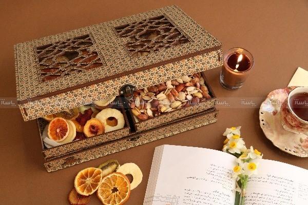 جعبه آجیل جعبه خشکبار جعبه پذیرایی جعبه چوبی کد LB027-تصویر اصلی
