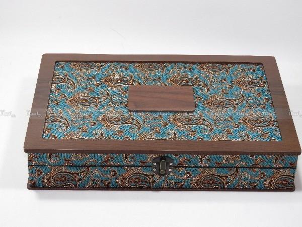 جعبه آجیل و خشکبار جعبه پذیرایی جعبه چوبی مدل ترمه  کد LB017-تصویر اصلی