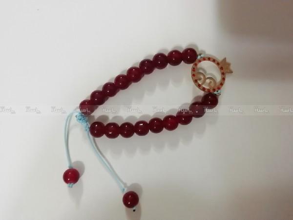 دستبند با پلاک استیل رنگ ثابت یلدا-تصویر اصلی