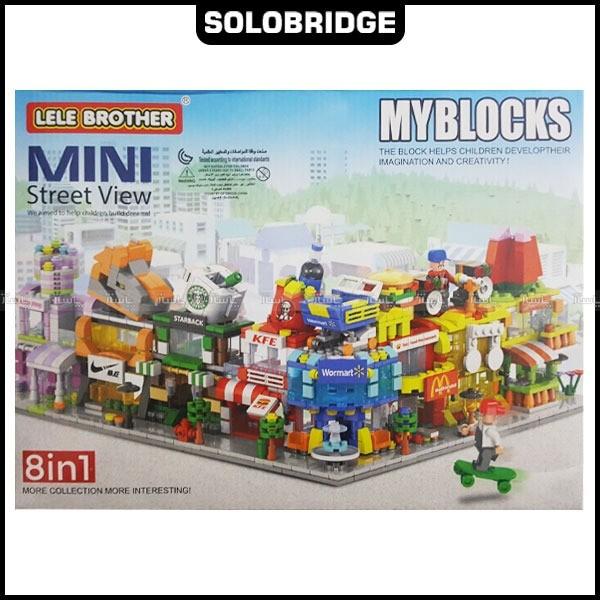 ساختنی Lele Brother مدل Mini street view 8in1 کد 8537-تصویر اصلی