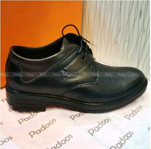 کفش بند دار مردانه مشکی طرح مجلسی آقای چرم-تصویر اصلی