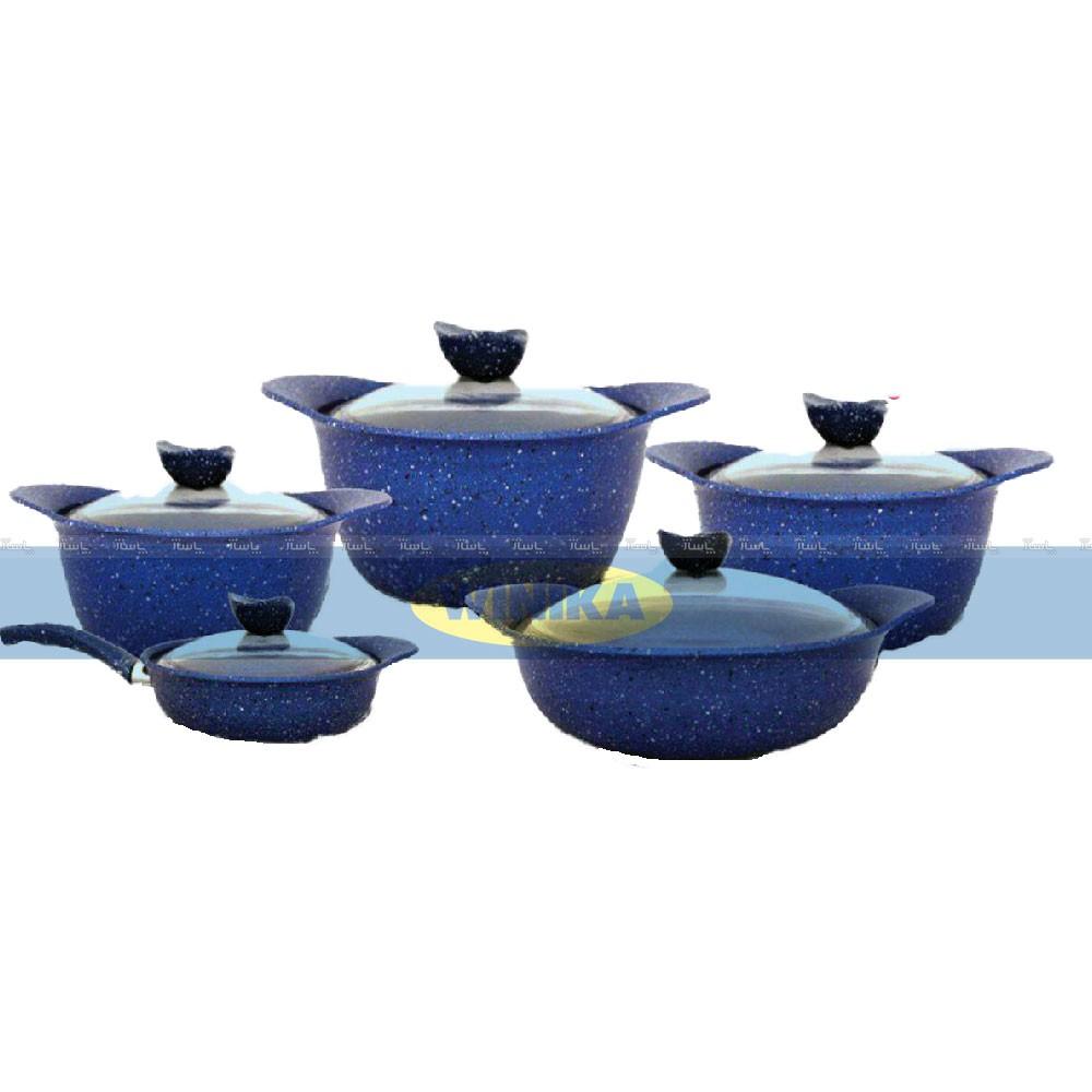 سرویس قابلمه 10 پارچه ظافر مدل Forged-Blue-تصویر اصلی
