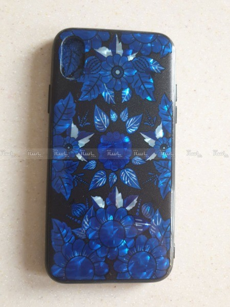 قاب Iphone x طرح گل آبی-تصویر اصلی