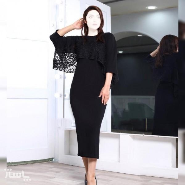 سارافون زنانه کرپ و رویی مدل انیس ( دوتکه )-تصویر اصلی