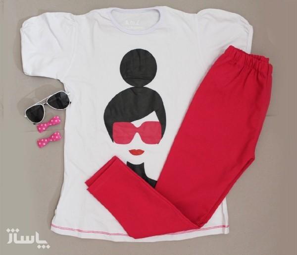 تیشرت شلوارک راحتی دخترانه سارینا-تصویر اصلی