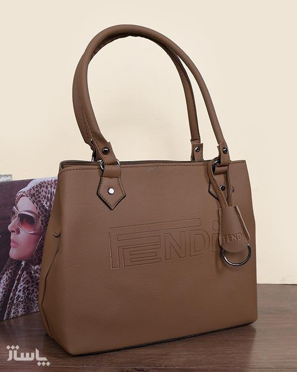 کیف رودوشی زنانه مدل Fendi رنگ نسکافه ای-تصویر اصلی