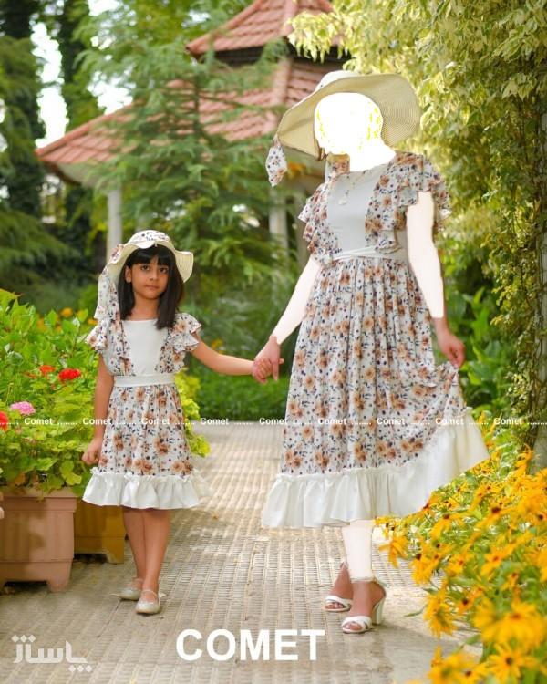 پیراهن هایلی ست مادر و دختر و تک-تصویر اصلی