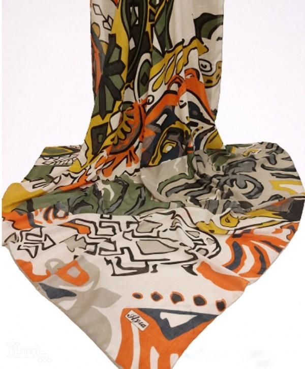 روسری نخی ریگازو طرحدار-تصویر اصلی
