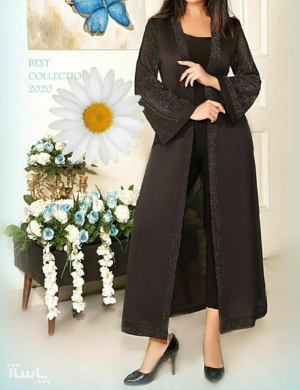 مانتو زنانه کرپ مدل مانتوبلند-تصویر اصلی