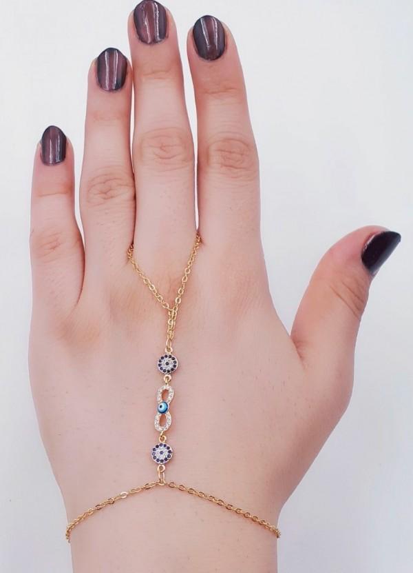 دستبند(تمیمه)طرح طلا-تصویر اصلی