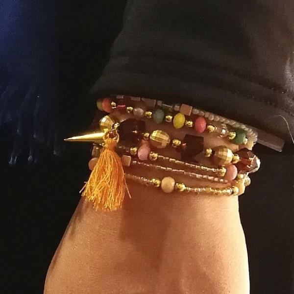 دستبند مهره 6ردیفه-تصویر اصلی