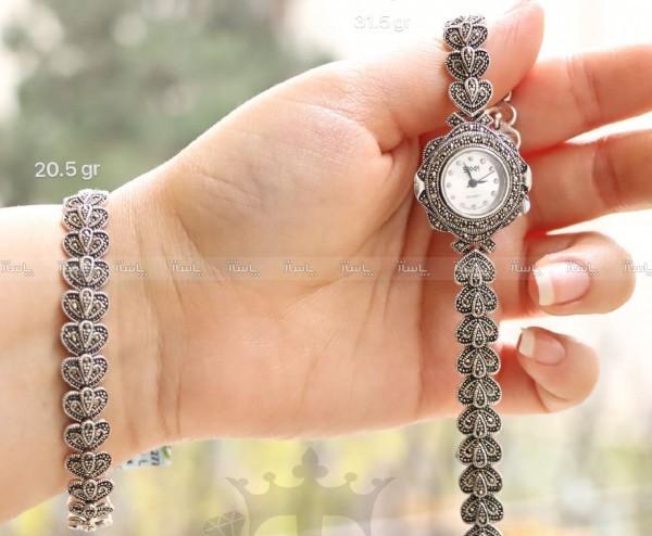 ست ساعت و دستبند لوکس نقره-تصویر اصلی