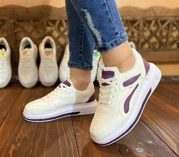 کفش کتانی ونس سفید بنفش